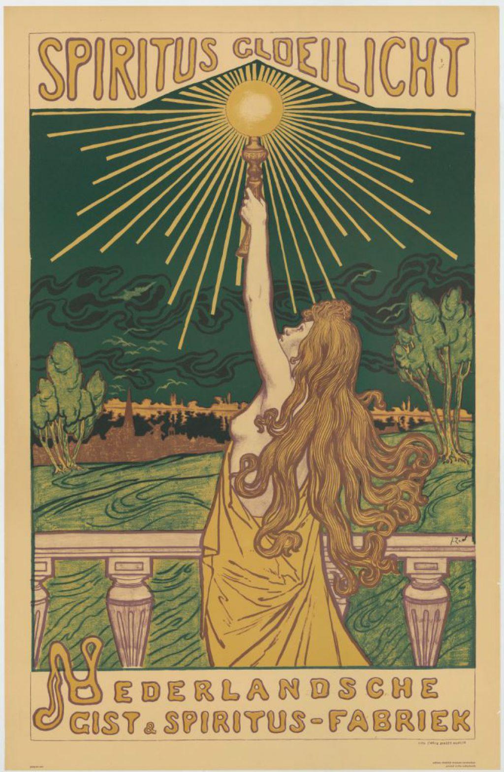 Jacques Zon, Reclame voor het Spiritusgloeilicht van de Gist- en Spiritusfabriek, ca. 1898 (TMS 218137)