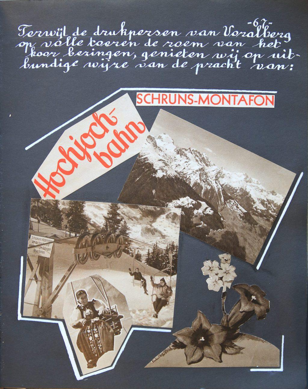 Plakboek met jaaroverzicht, foto's en knipsels van het Madrigaalkoor, 1954 (Archief 839 inv.nr 9)