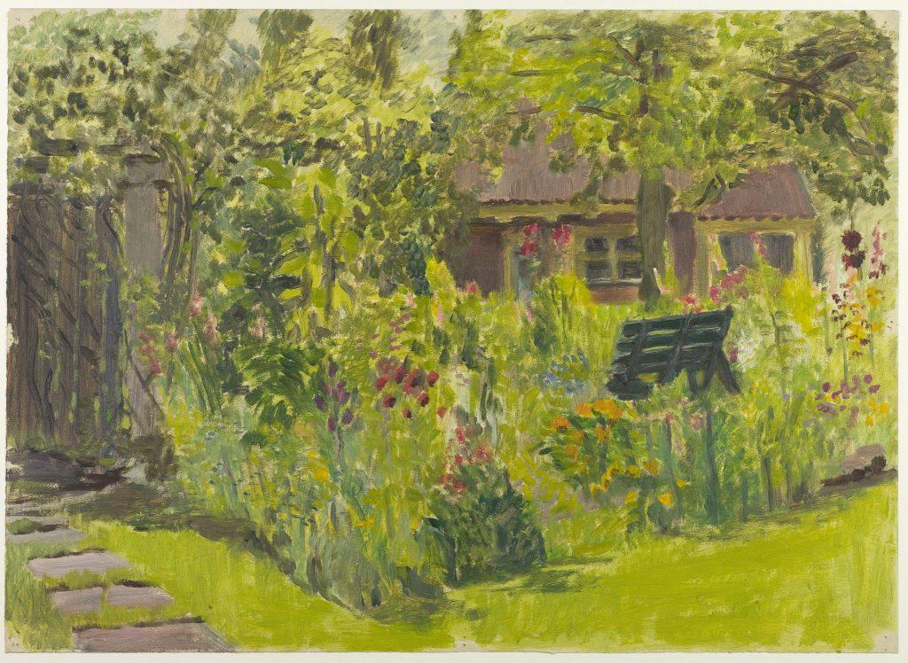 Arthur Tutein Nolthenius, De tuin achter Nieuwe Plantage 48, ca. 1950 (TMS 64706)