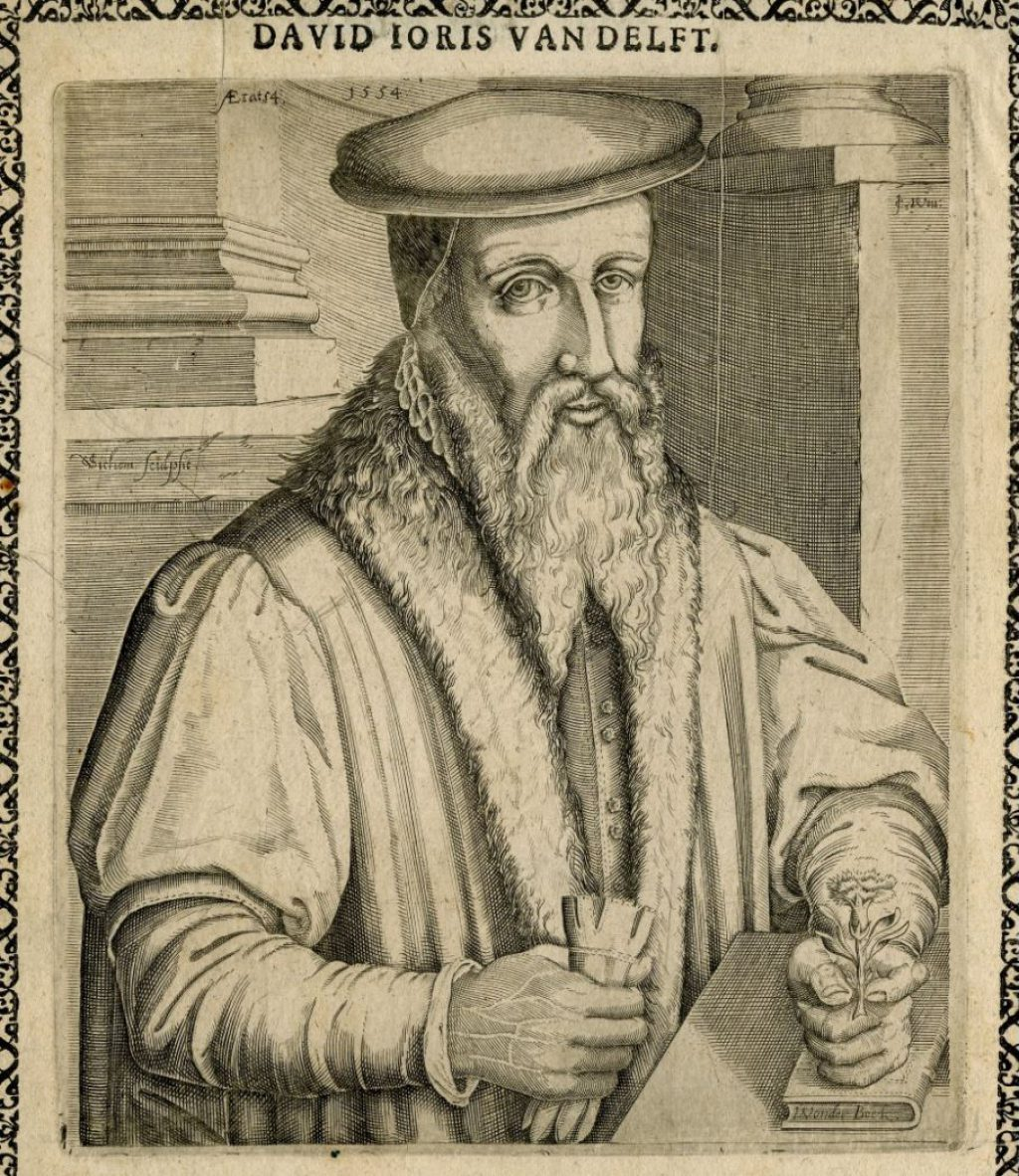 Portret van David Joris uit 1554. (TMS 59834)