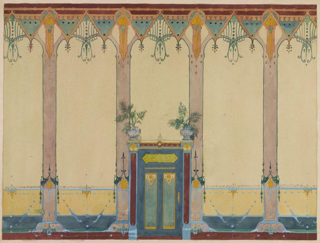 J. Heesterman, ontwerp voor een gevelversiering in art nouveaustijl, waarschijnlijk voor de Stadsdoelen, ca. 1905 (TMS 74527)