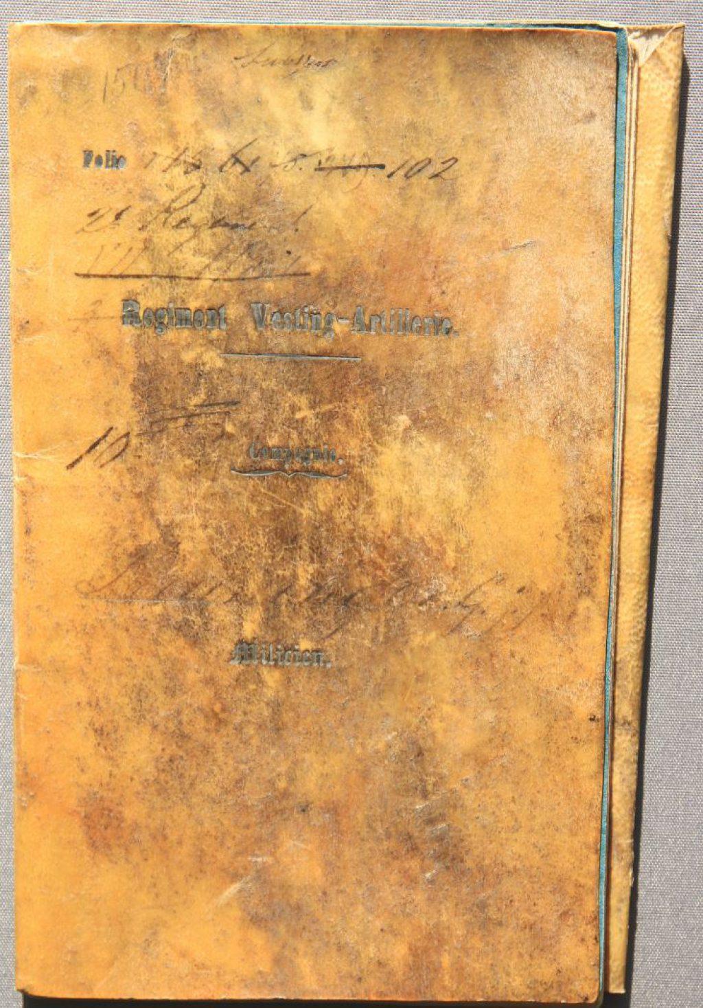 Militair zakboekje van G.J.J. Preuninger (Archief 598 inv.nr 897)