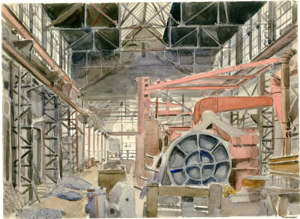 A. Tutein Nolthenius, Interieur van Machinefabriek Reineveld, ca. 1954 (TMS 68159)