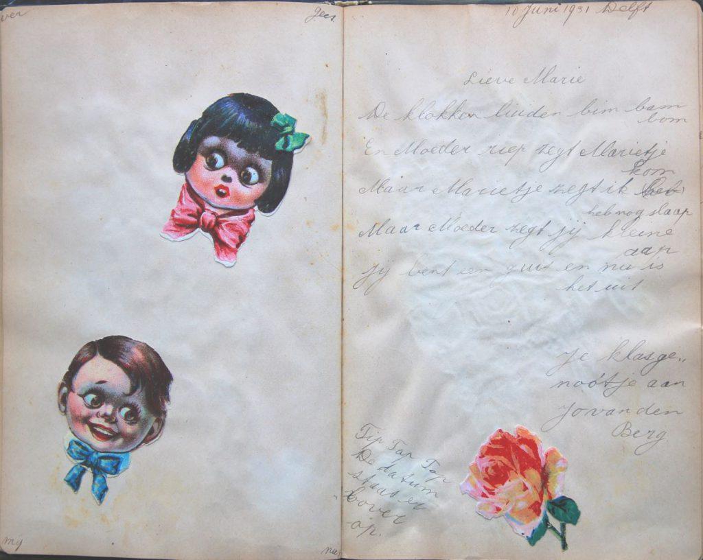 Poëziealbum van Marie van Velzen, ca. 1930 (Archief 598, inv.nr 912)