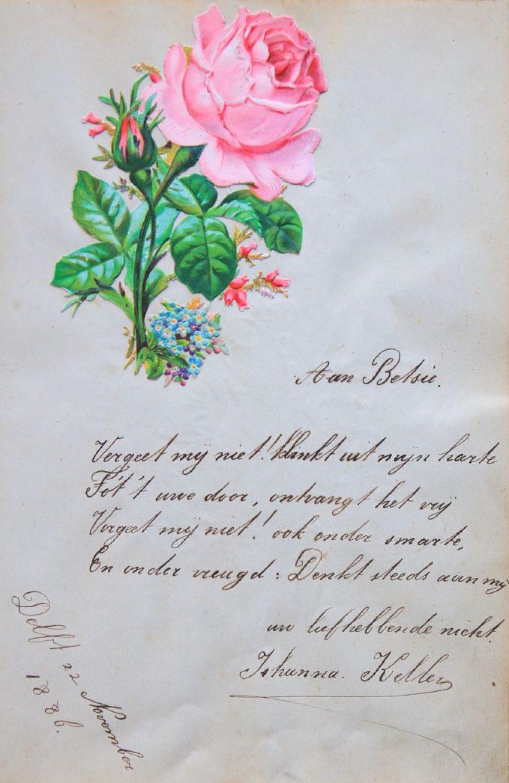 Poëziealbum van Betsie Eterman, ca. 1886-1896 (Archief 598, inv.nr 563)