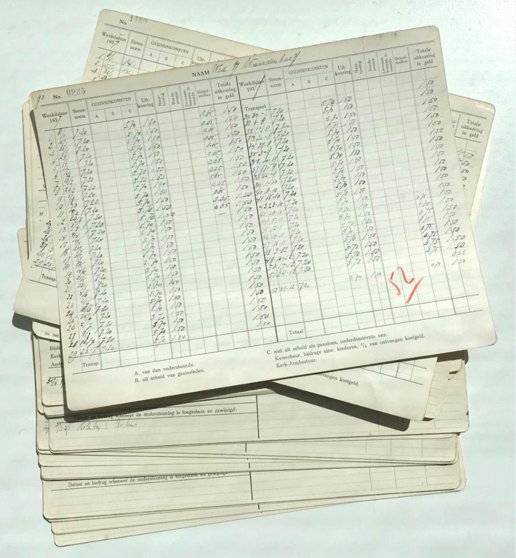 Steunkaarten, 1937 (Archief 67, inv.nr 67)