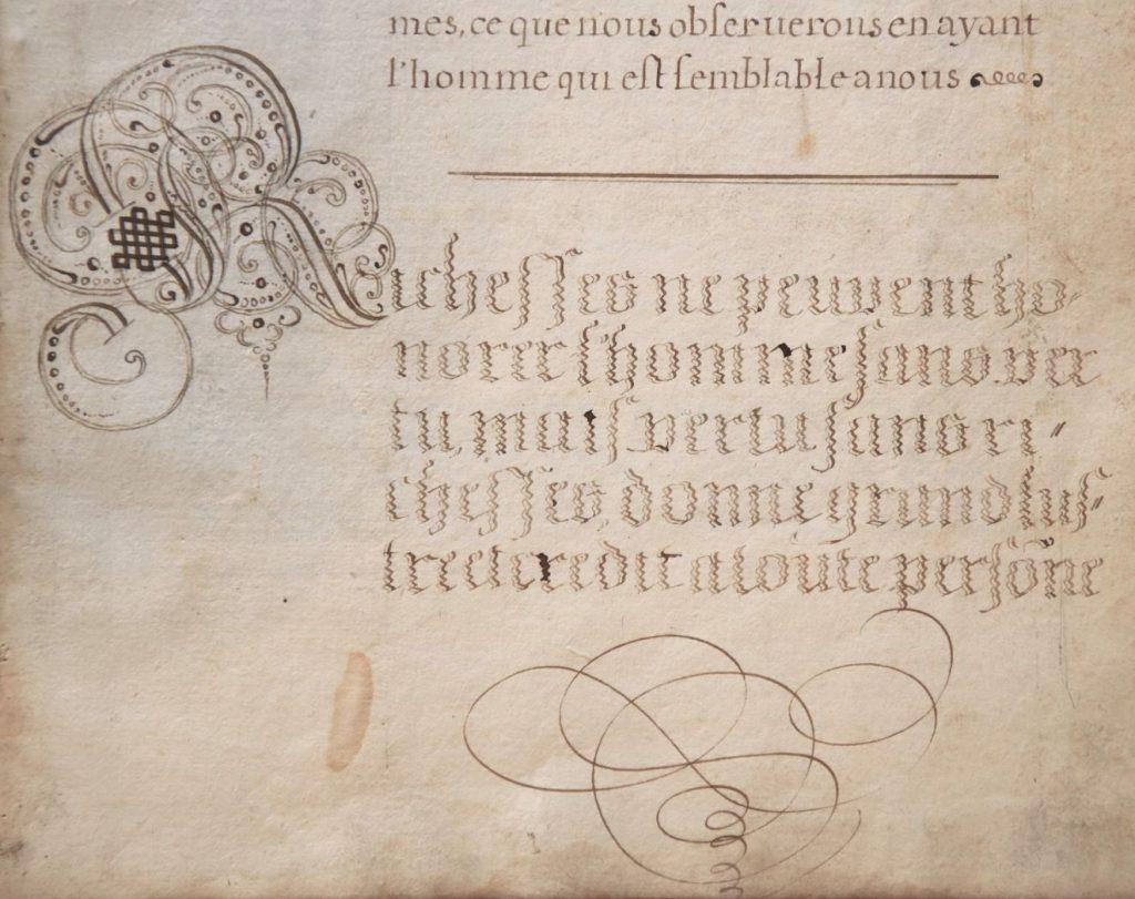 Schrijfoefening van David Mot (Archief 598, inv.nr 719, folio 22)