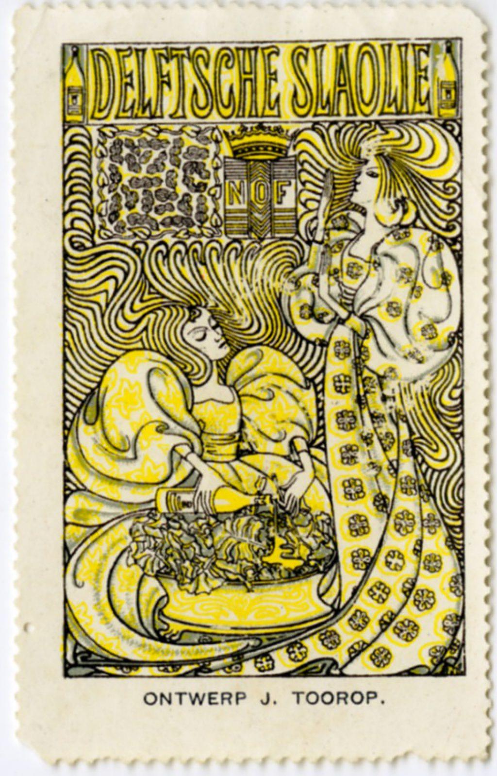 Sluitzegel, ontwerp vanJan Toorop, 1914 (TMS 220606)