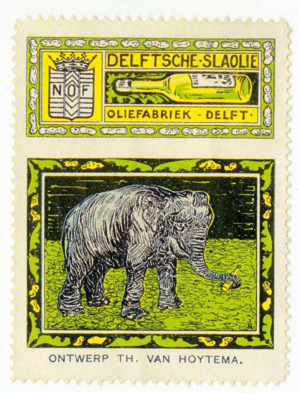 Sluitzegel, ontwerp van Theo Hoytema, 1914 (TMS 220651)