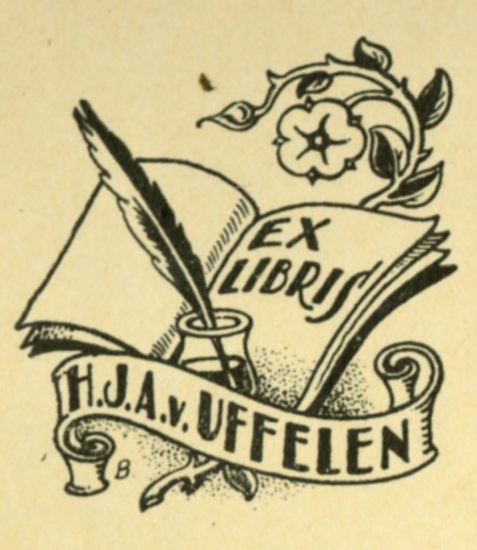 Ex librissen: Voor H.J.A. van Uffelen door Sipke Baars (TMS 121296)