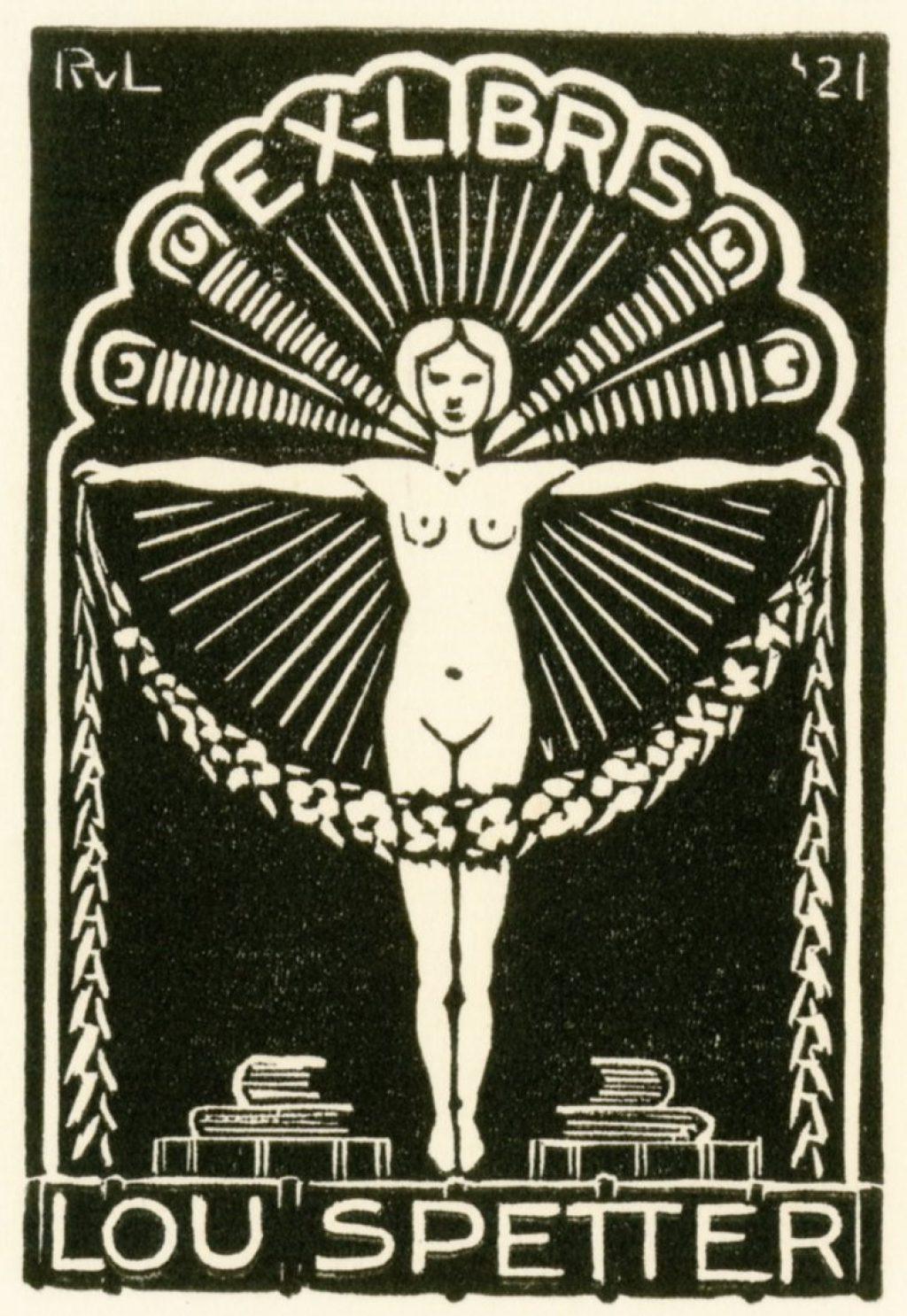 Ex Librissen: Voor Lou Spetter door Rijk van Lavieren, 1921 (TMS 139220);