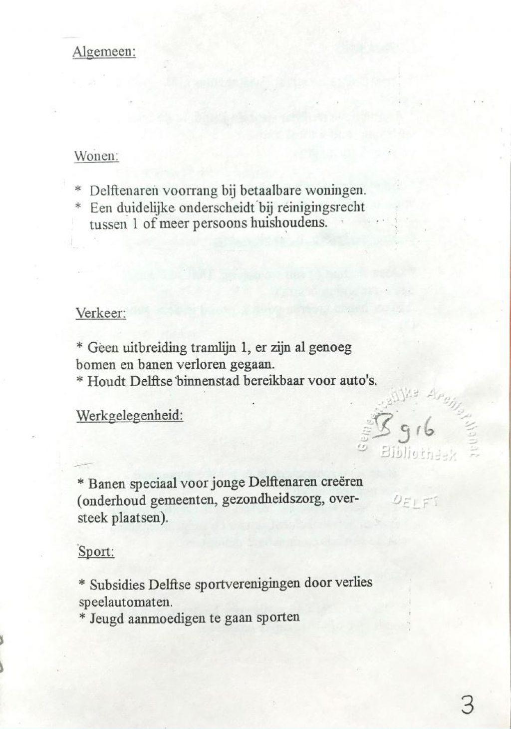 Documentatieverzameling nr. 303, partijprogramma Centrumdemocraten 1994, de gekuiste versie (Bibliotheek)