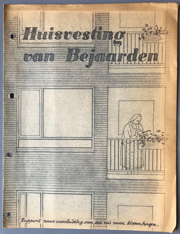 Verslag van de studiereis over bejaardenhuisvesting in Denemarken, 1952 (Archief 546, inv.nr 161)