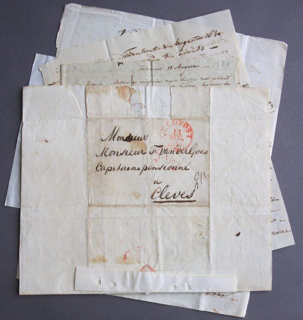 Brieven van H.M. van der Goes tijdens Tiendaagse Veldtocht, 1831. (Archief 699, inv.nr 252)